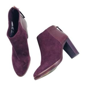 Ted Baker London Azaila Burgundy Suede Ankle Boots